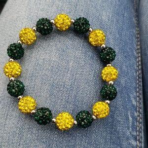 Green and yellow gem bracelet